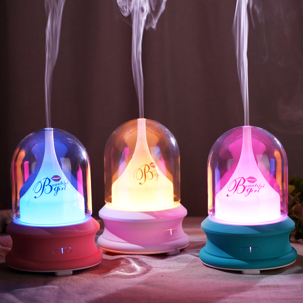 Aroma Essential Oil Diffuser Ultrasonic Air Humidifier With LED Light For Home Office Electric Cool Mist Aromatherapy Diffuser