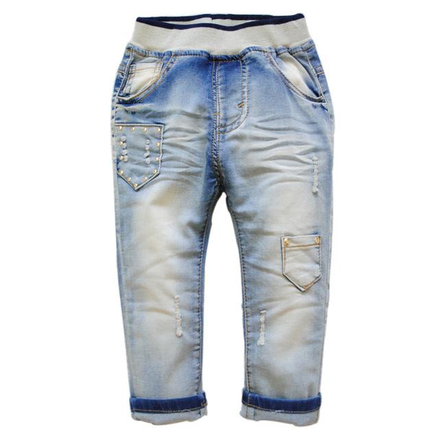 6247 luz azul calças de brim do bebê meninas meninos calças DO BEBÊ moda nice new baby boy jeans suaves calças jeans casuais