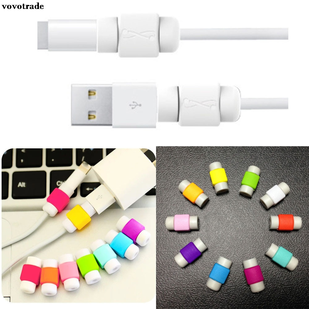 vovotrade 50pcs Protector Saver Cover Saver and Fixer Charging Cable Protector Saver Lightning Saver Protective For iPhone 7/6S