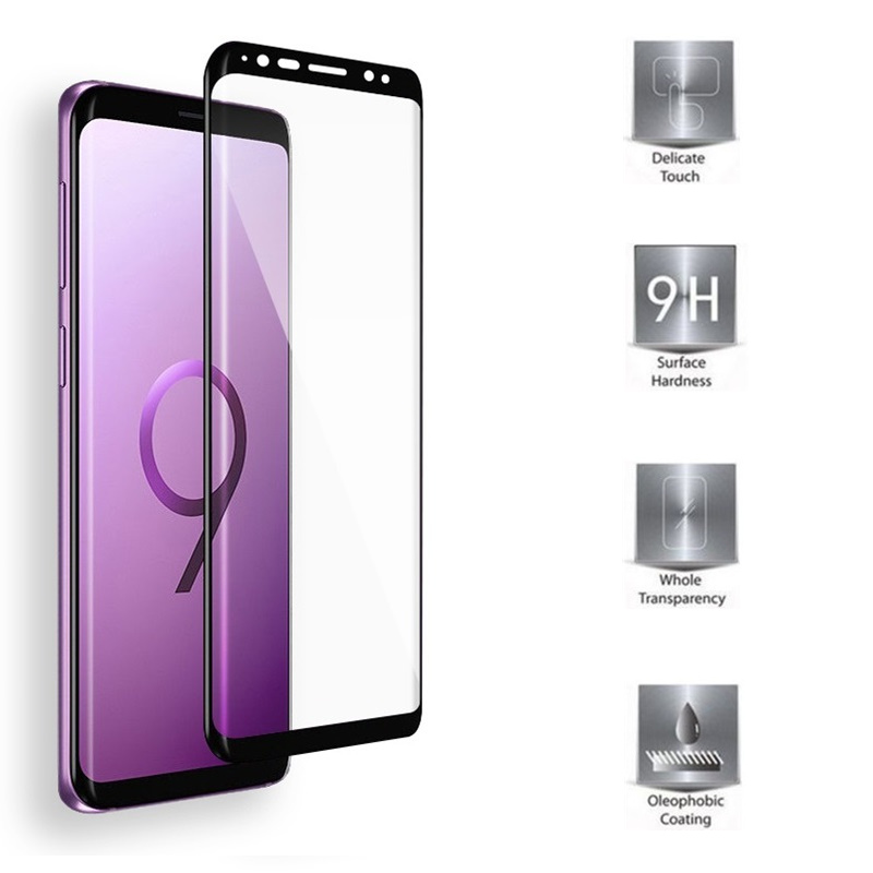 Full cover Tempered Glass For Samsung Galaxy S9 S 9 Screen protective 5 8 inch smartphone toughened 9H 6D on case crystals in Phone Screen Protectors from Cellphones Telecommunications