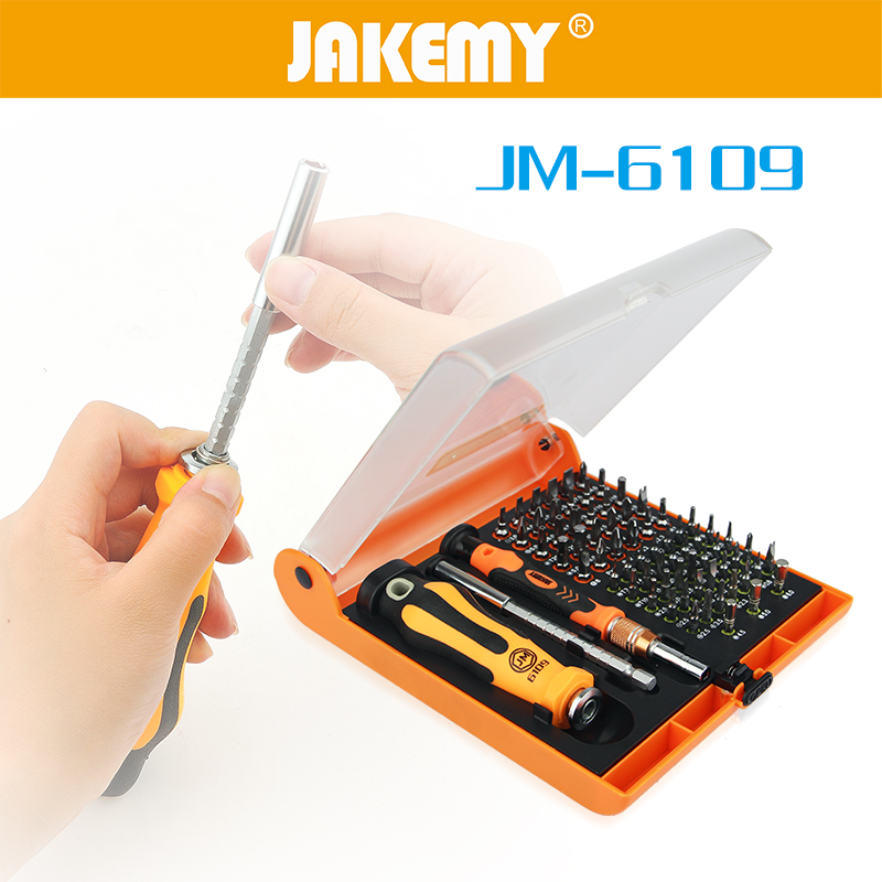 JAKEMY 72 in 1 Screwdriver Magnetic Adjustable Ratchet Set for Electrical Household Auto Car Mechanic Repair Hardware Tools Kit