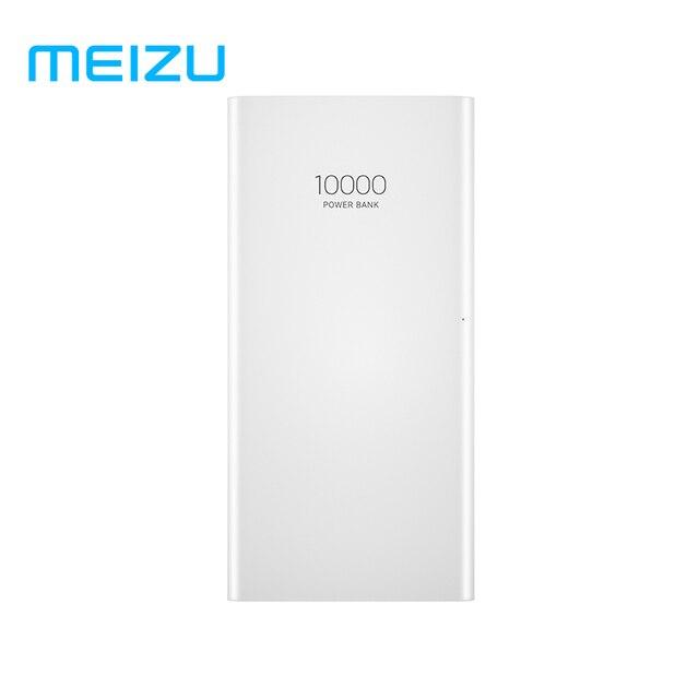 Orijinal Meizu 10000mAh güç bankası 3 harici lityum iyon polimer pil 2 USB hızlı şarj güç bankası Xiao mi mi iPhone X