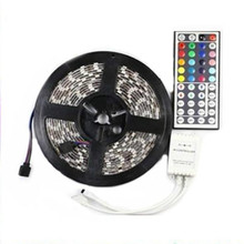 3X 5M RGB 5050 SMD Non-waterproof 300 LED Lights flexible Strip DC 12V+  3 x 44 key IR remote controller + Receiver