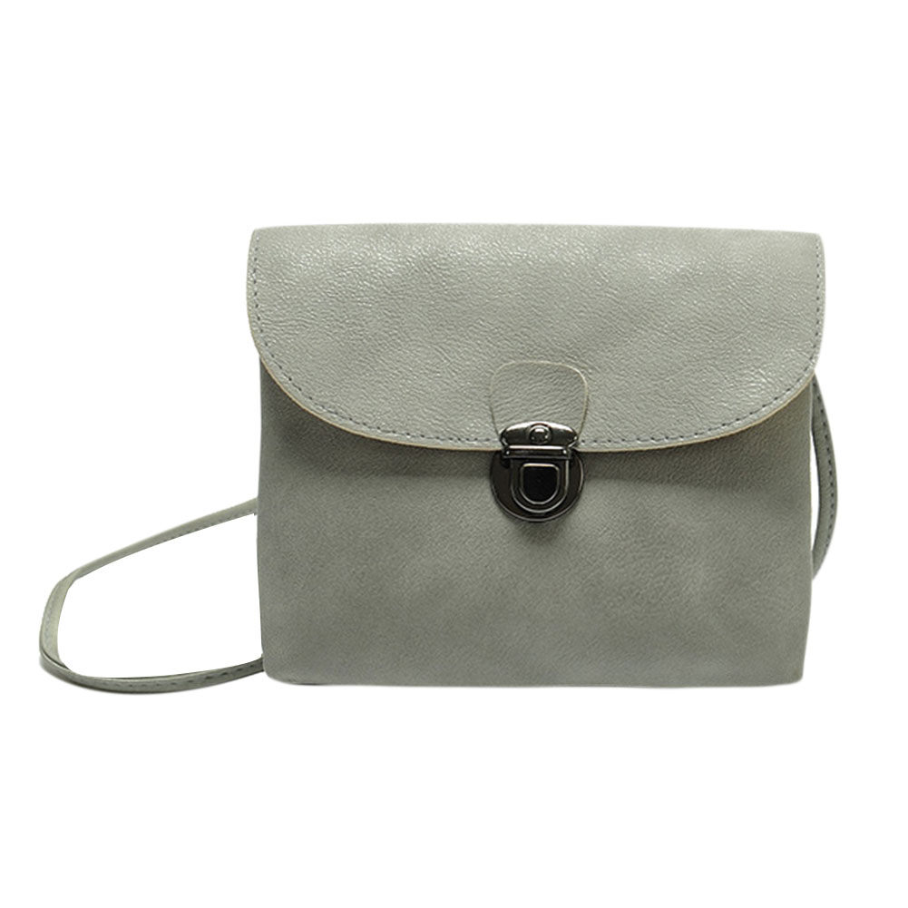 Women PU Leather Mini Shoulder Casual Crossbody Bag Ladies Casual Phone Clutch Bag Female Small Messenger Bag Grey Black grey soft plain pu crossbody bag