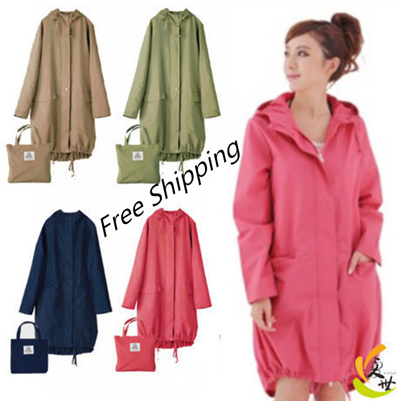 Aliexpress.com : Buy Long Thin Raincoat Women Waterproof hood ...