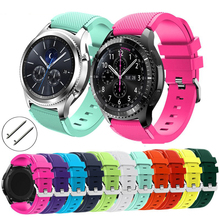 22mm Gear S3 watchband for Samsung Gea Galaxy watch 46mm Frontier/Classic Soft Silicone strap wrist bracelet for Samsung Gear S3 silicone rubber watchband 22mm for samsung gear s3 classic frontier gear 2 neo live vector ticwatch 1 steel buckle wrist strap