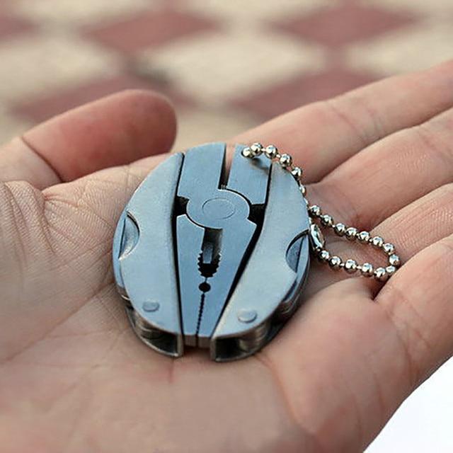 Camping Portable Outdoor Mini Foldaway Multi Function Tools Set Pocket Keychain
