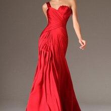 Новые сексуальные красные атласные вечерние платья на одно плечо с открытой спиной Вечерние платья