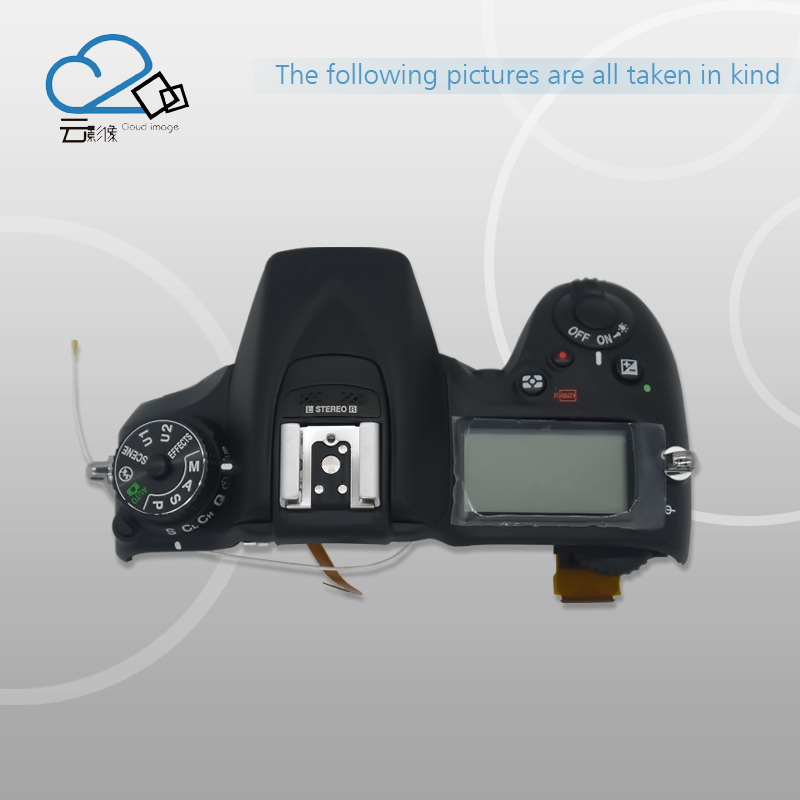 Test Ok!D7200 Top Cover with flash board top shell LCD FPC for Nikon d7000 rear back cover shell with lcd button fpc for nikon d7000 for nikon