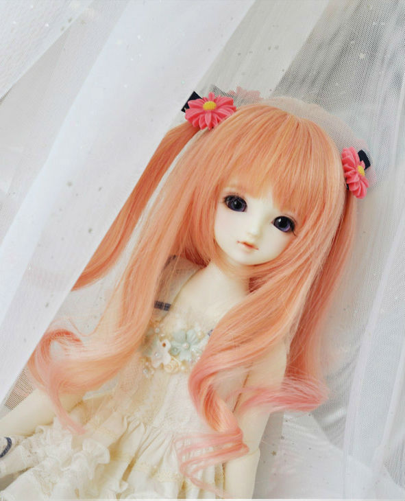 Sweetie Pink long Curly  Wig BJD Doll Wig 1/3(23cm) 1/4(19cm) 1/6  for YOSD MSD SD Luts DOD AS Doll HW3 тушь для ресниц the saem saemmul perfect curling mascara black