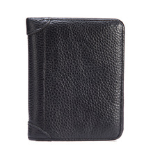 Foreign trade mens leather wallet, litchi, tattoo, cowhide, business casual bank card, short package 569