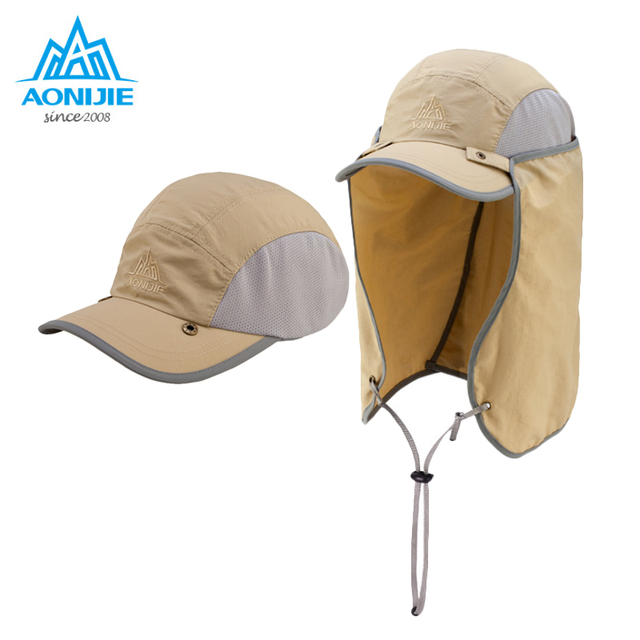 AONIJIE Sports Climbing Caps Men Cycling Running Fishing Hats Women Sunshade Anti-UV Hat Outdoor Travel Foldable Sun Caps Hat