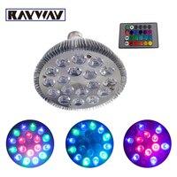 Rayway Одна деталь только E27 LED RGB прожектор Алюминий par30 18 Вт PAR38 24 Вт 36 Вт Дистанционное управление затемнения пятно света лампа