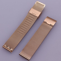 New Milanese Watchband 16mm 18mm 20mm 22mm 24mm Universal Stainless Steel Metal Watch Band Strap Bracelet