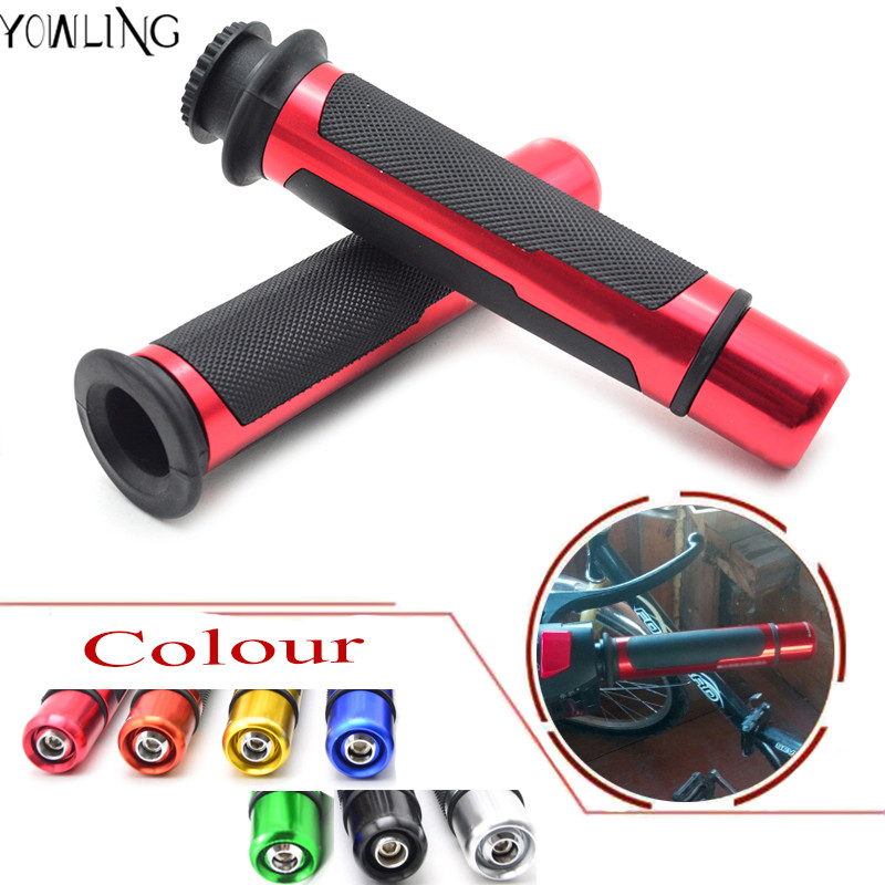 YOWLING Good Rubber alumium 7/8 inch 22mm Hand Grips Motorcycle Handlebar fit on motorbike,motocross,racing motor ATV Dirt Bike