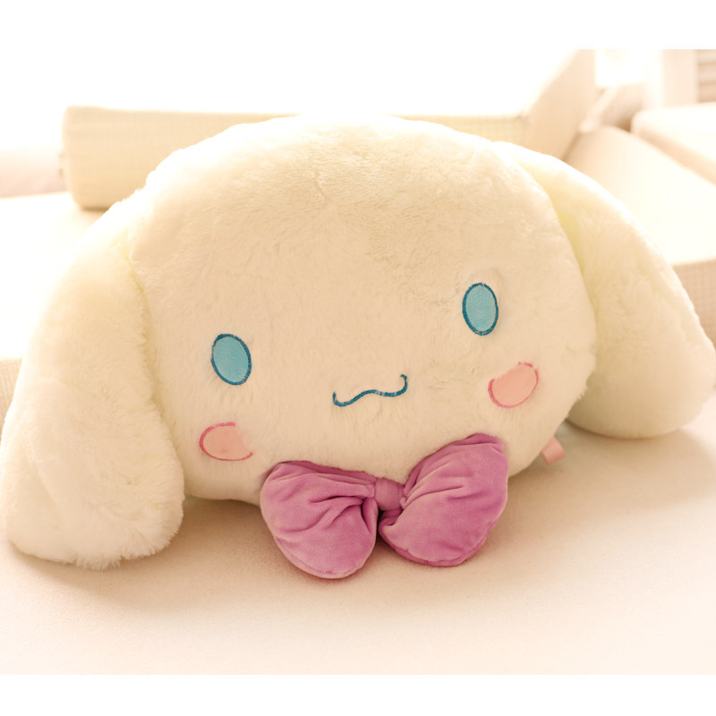 Candice guo! Super Q plush toy white puppy cushion soft Cinnamoroll dog creative Valentine's birthday gift 1pc super cute plush toy dog doll as a christmas gift for children s home decoration 20