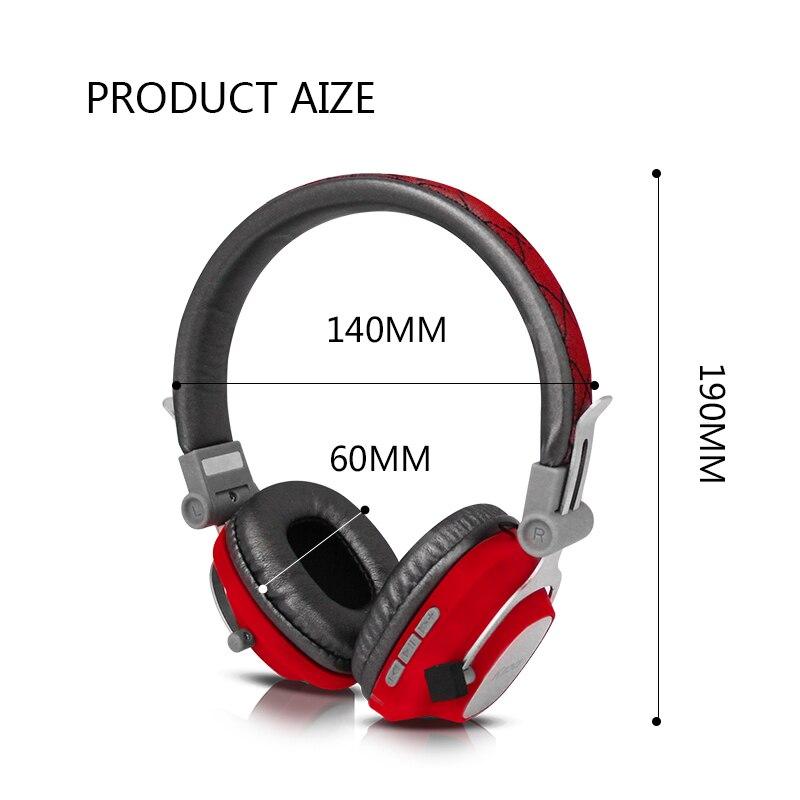 Tête téléphones casque Bluetooth casque casque sans fil casque stéréo pliable sport casque Microphone casque mains-