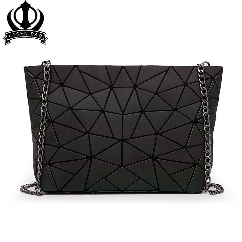 lasen bolsa mujeres luminoso lentejuelas espejo diamante celosa geometra bao bao bolsa de dama de la