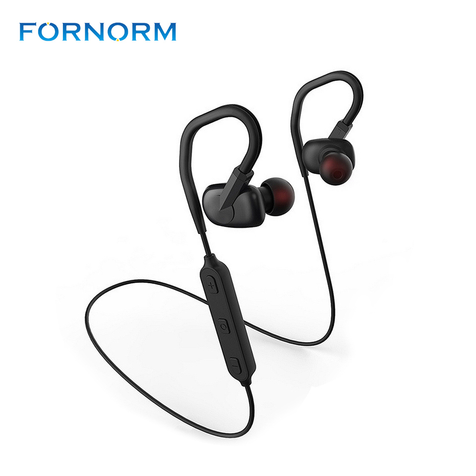 Bluetooth Headphones Wireless In Ear Earbuds V4.1 Sports Sweatproof Earphones Adjustable Ear Hooks with Mic for Running Gym