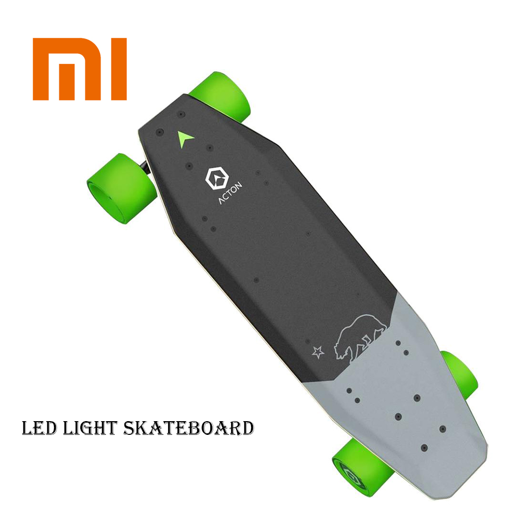 Xiaomi ACTON Smart Electric Skateboard Wireless Remote Control Omnidirectional LED Light Group 12KM Skate Board Outdoor Sports acton