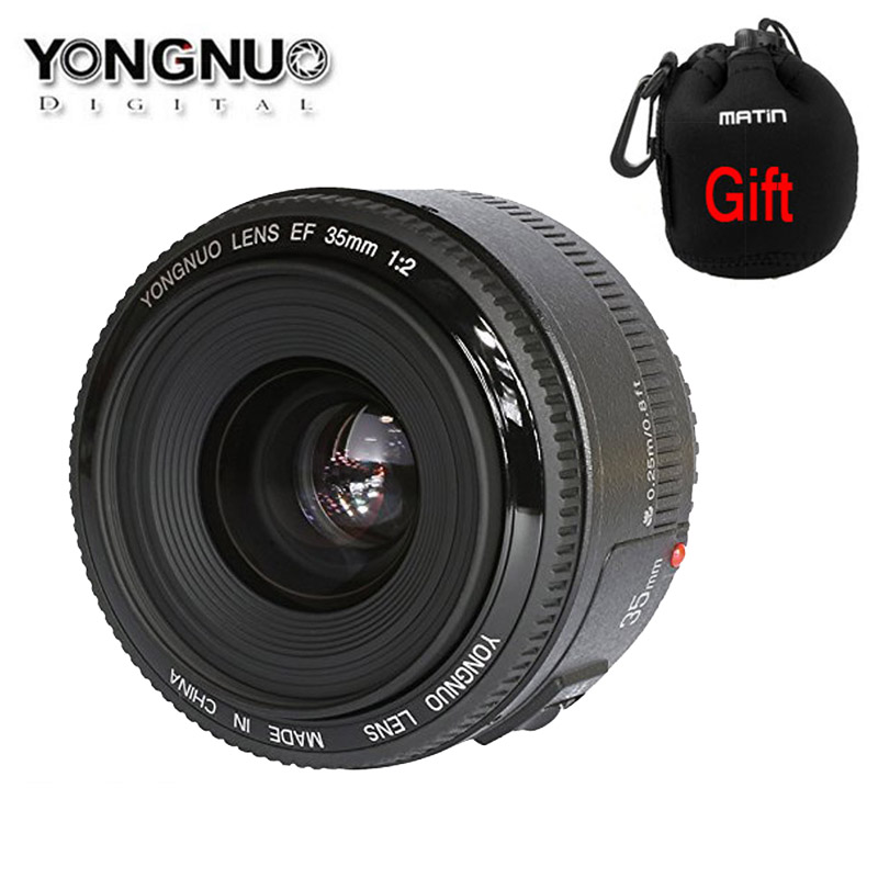YONGNUO YN35mm F2.0 F2N Wide angle AF/MF Fixed Focus Lens for Nikon F Mount D7100 D3200 D3300 D3100 D5100 D90 DSLR Camera yn35n