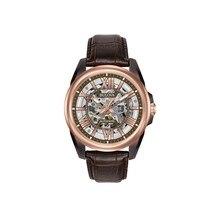 Наручные часы Bulova 98A165 мужские механические с автоподзаводом на кожаном ремешке