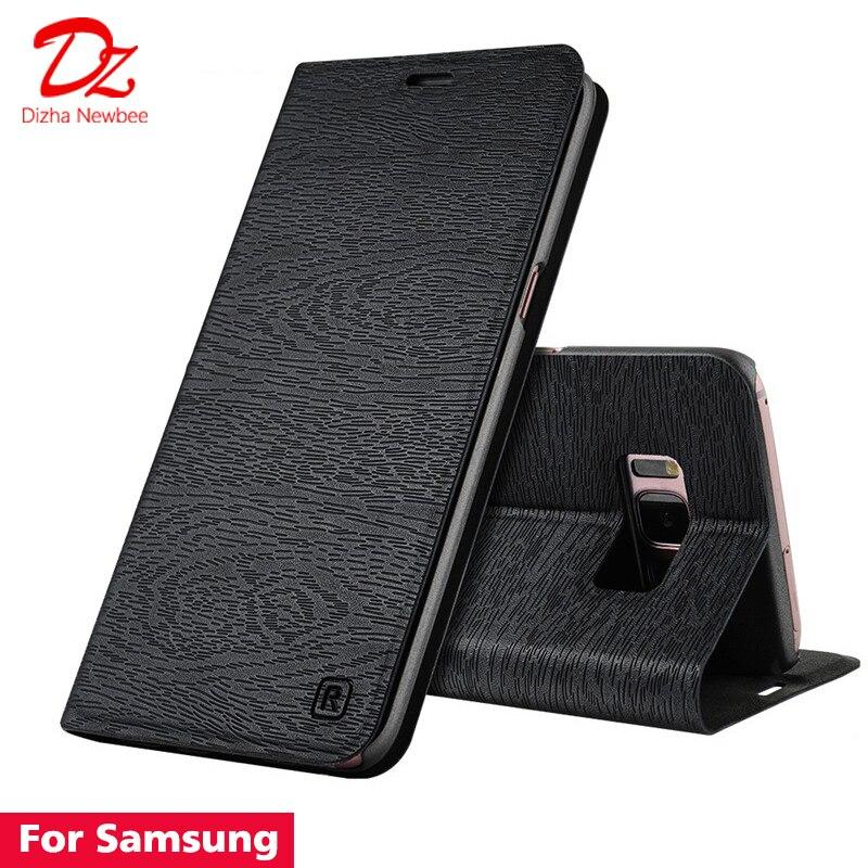 Для samsung galaxy S7 S8 S9 Примечание 8 кожаный чехол для samsung galaxy S7 край S8 S9 плюс полиуретановый чехол с откидной крышкой подставкой и отделением для ...