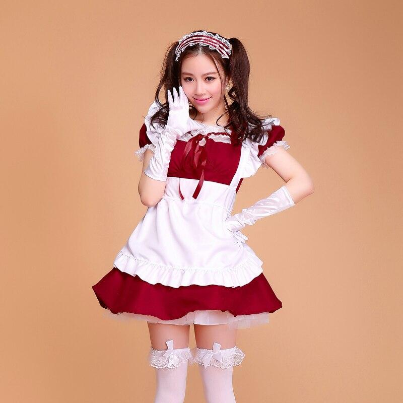 Bonbons Couleur Demoiselle Tenues Lolita Robe de Bande Dessinée Costume Cosplay princesse Mignon Style Lolita Filles Robe Costumes avec Plus La Taille S-2XL