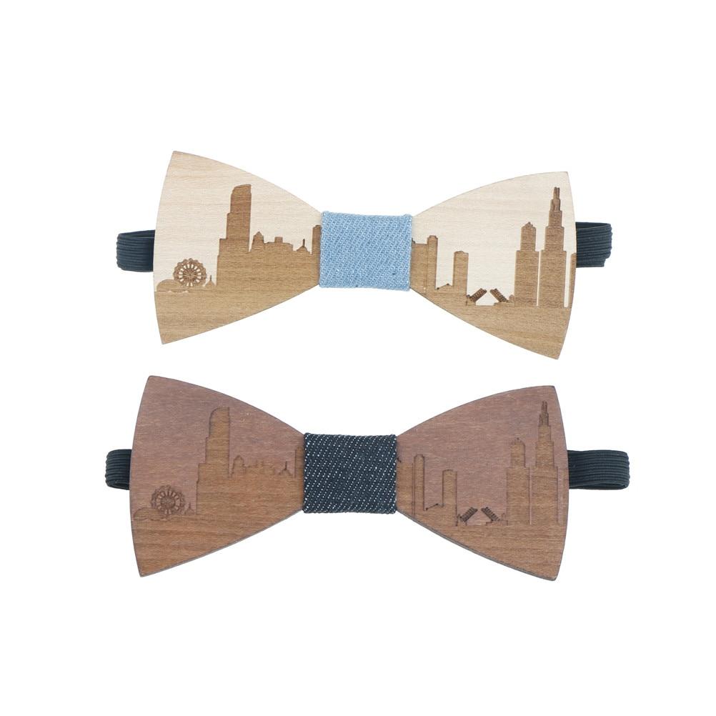 Wedding Bow Tie Wooden Men's Suit Shirt Necktie Classic Men Neckwear Butterfly Bowtie