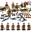 WW2 D163 Military Soldier Tank fight building block is safety education boy girl toy funny christmas gift