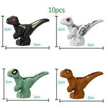 10pcs Jurassic World 2 Tyrannosaurus Rex Cub dinosaur baby Self-Locking Bricks Building Blocks for kids gifts
