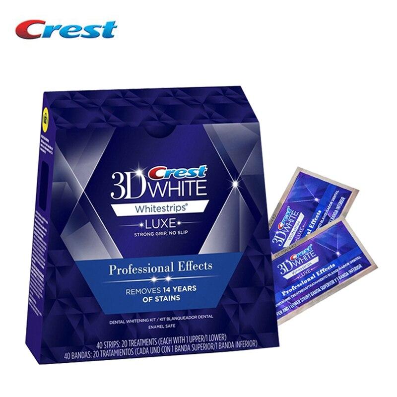 3D Bianco Denti Whitestrips Luxe Effetto Professionale 20 Trattamenti 1 Scatola Originale Igiene Orale Spazzolino Da Denti Sbiancamento Dei Denti Strisce