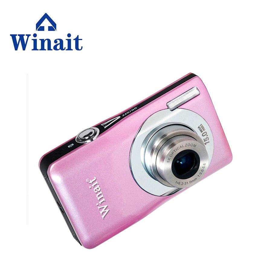 bilder für Rosa farbe 15 mega pixel opitcal digitalkamera mit 2,7 ''TFT display wiederaufladbare freies verschiffen
