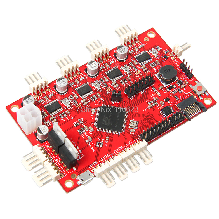 Geeetech 3D Printer Mainboard Reprap Printrboard control board ,print board upon Gen6 Mendel geeetech newest reprap 3d printer control board rumba usb cable best choice for diy fans