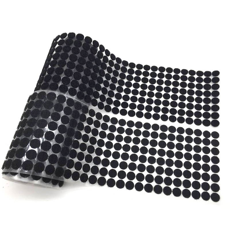 500pairs Magic Tape Double -Sided 10mm Dots Magic Sticker Strong Self Adhesive Tape Magic Tape Snap  For Sewing