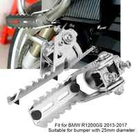 Motorcycle Front Footpegs 1 Pair Motorcycle Front Footrest Foot Pegs Universal for BMW R1200GS 2013 2014 2015 2016 2017
