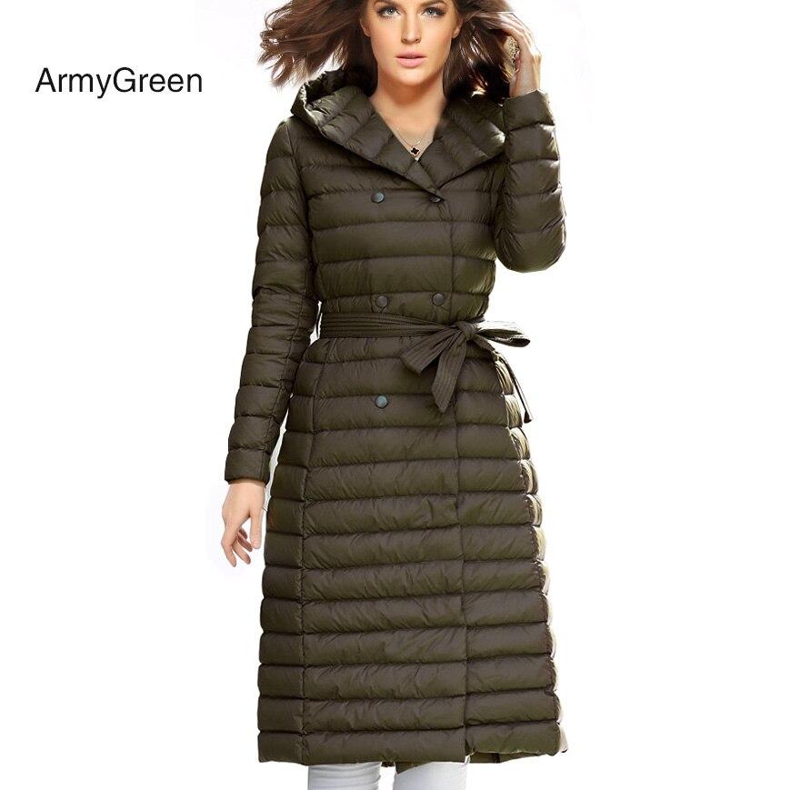 Snow Winter Down Jacket Women Coat 90 % White Duck Down ...
