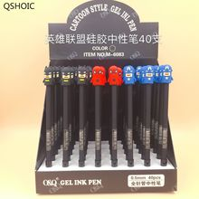 40 Pcs Gel Pens Kawaii League Of Legends Black Colored Gel-inkpens For Writing Gel Pen Cute Stationery Office School Supplies 48 pcs gel pens cartoon donut pen black ink gel inkpens for writing cute stationery office school supplies wholesale donut pen