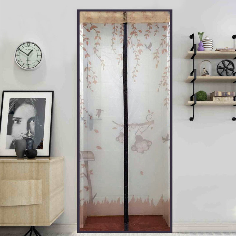 Durable Hot Sale 4 Colors Modern minimalist Summer Style Mesh Prevent Mosquito Kitchen Window Curtains tulle window door screen