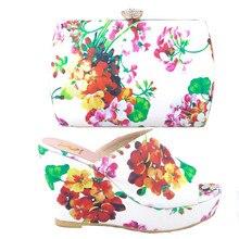 Высокое Ад Насос Женщины Платье Невесты Для Свадьбы И Партии Высокой качество Обуви И Соответствующие Сумки Италия Леди Обуви И Мешок TYS17-28