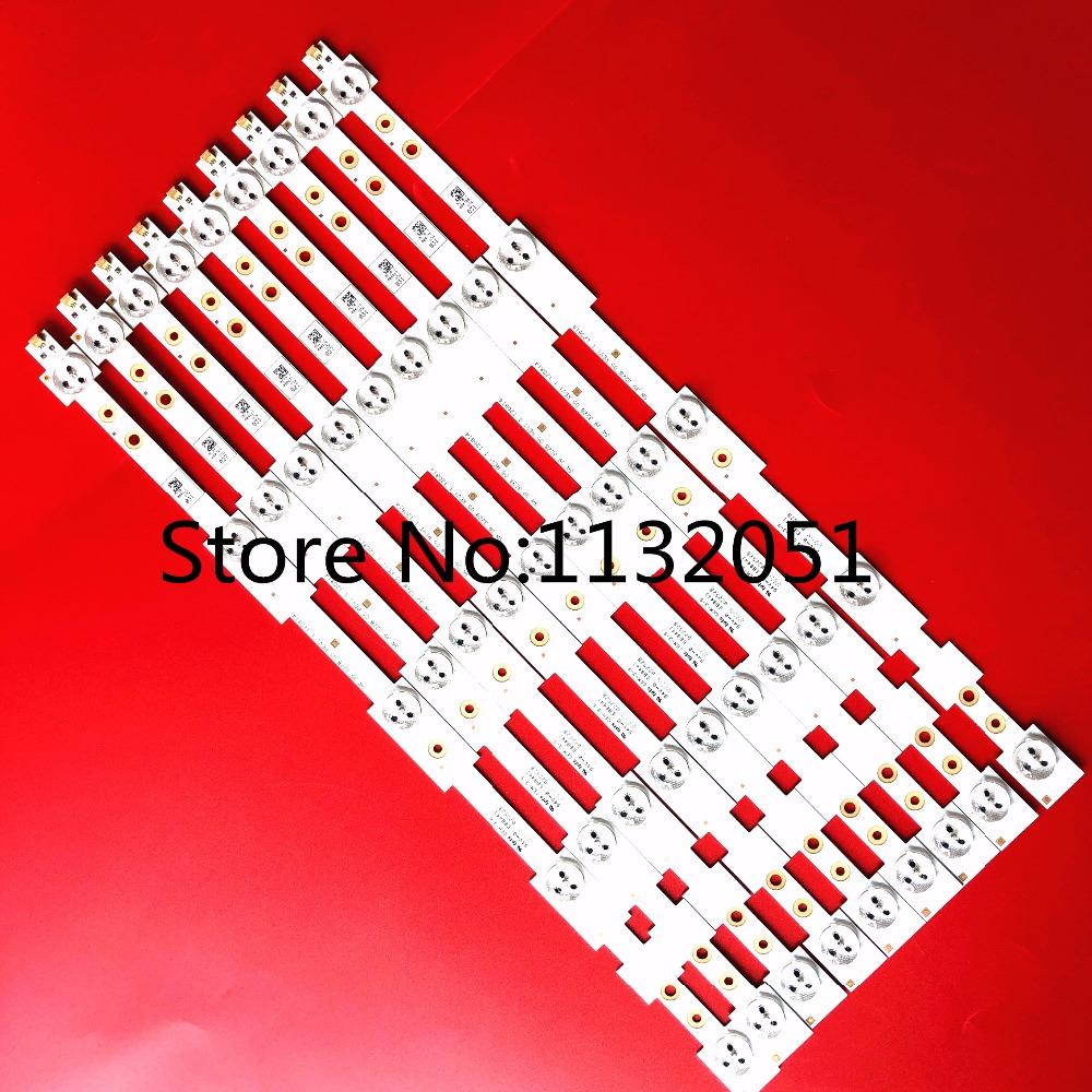 Good 9 Pcs/lot 39 Led Strip Sw 39 3228 05 Rev1.1 120814 5 Leds 420mm Refreshing And Beneficial To The Eyes 1 Led 3v