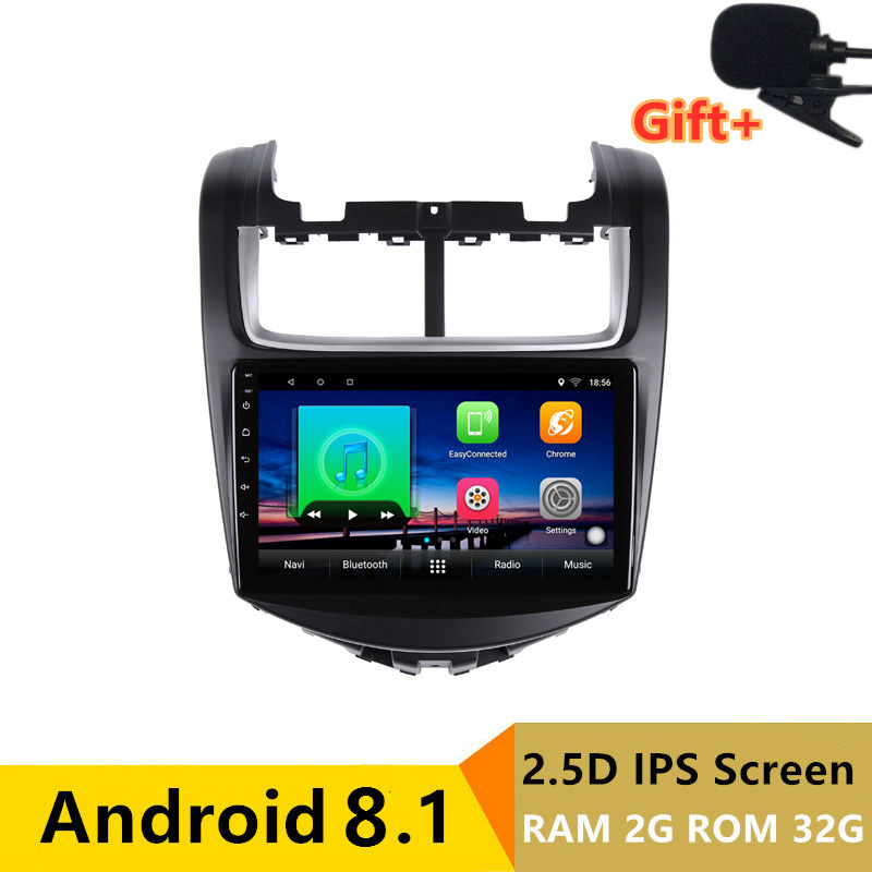 "9"" 2+32G 2.5D IPS Android 8.1 Car DVD Multimedia Player GPS for Chevrolet Aveo 2013 2014 2015 audio radio stereo navigation"