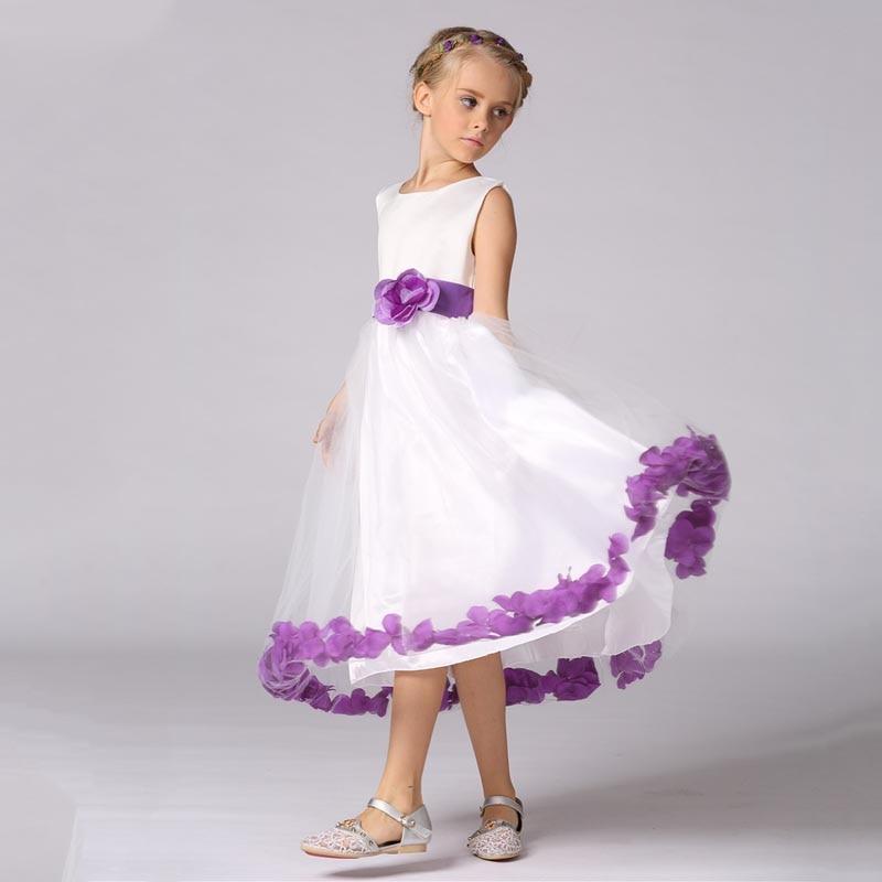 Girls Flower Evening Dress Bridesmaid Formal Long Dress for Party Prom Wedding Christening @ZJF long criss cross open back formal party dress