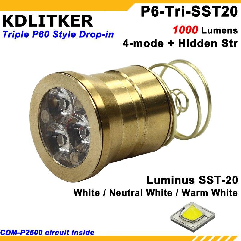 CREE XM-L2 U3 x 3 1 Mode Emitter Modules  Drop-ins  for TrustFire TR-3T6 TR-3L2