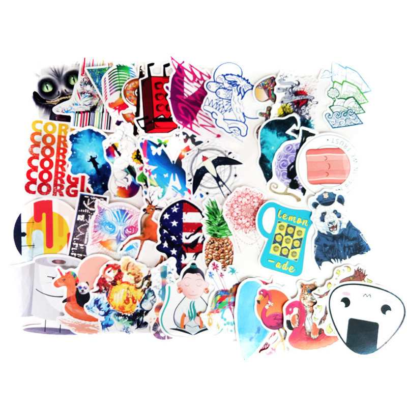 (Yandex) 100PCS anime stickers do not repeat European and American personality stickers,motorcycles,pull rod boxes, car stickers