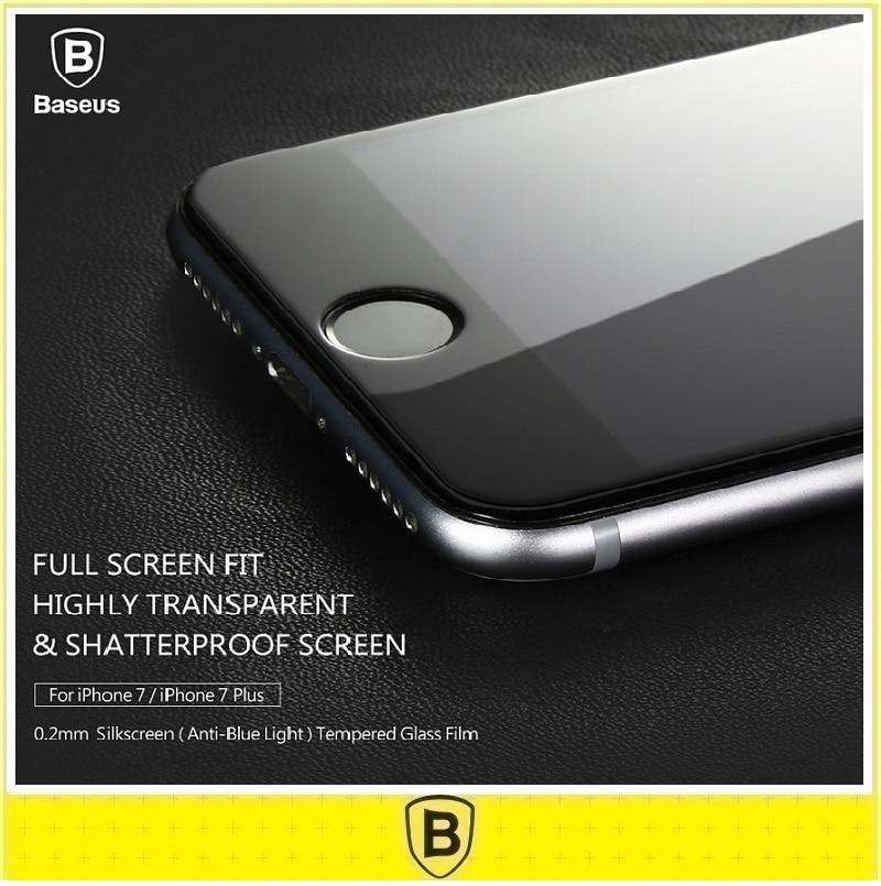 imágenes para Baseus 0.2mm 9 h 3d de cristal templado de cine para iphone 7 plus iphone7 7 plus cubierta completa protección anti-protector de pantalla de luz azul