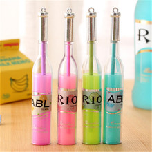 DL Japanese and Korean stationery fresh lovable wine bottle styling neutral pen prize pen student small gift wholesale(China)