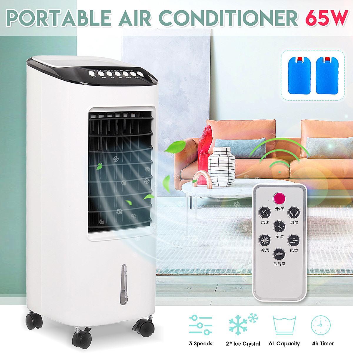 Più nuovo Portatile Condizionatore D'aria Condizionata 65 W Umidificatore Piano 220 V Camera Da Letto A Distanza di Controllo Aria Per Uso Domestico di Raffreddamento del dispositivo di Raffreddamento del Ventilatore
