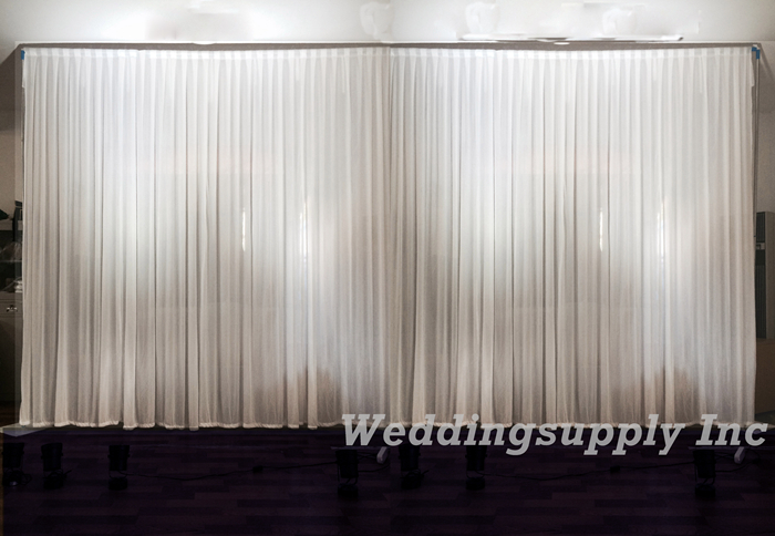 Buy luxury white wedding backdrop banquet for Background curtain decoration