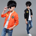 Children's clothing male child spring and autumn 2016 child jacket 7 boy child 8 casual wear 9 10 zipper sweater fashion